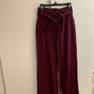 High Waisted Long Pants with Back Zipper